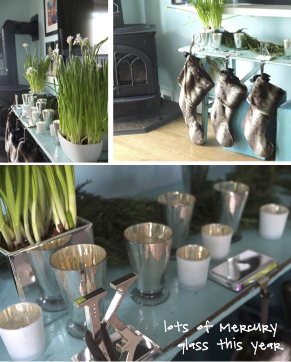 Kristina Crestin Design_Holiday decor mink stockings