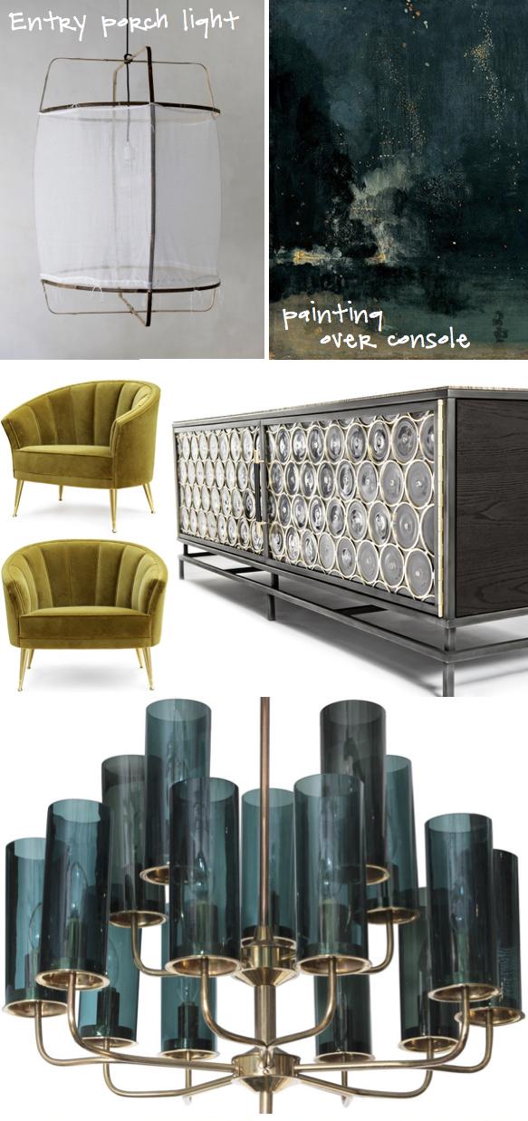 Kristina Crestin Design_entry w vintage teal light